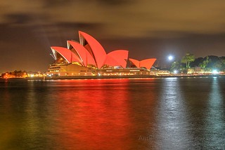 Sydney Opera House in Red