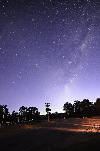 Milky Way over Keysbrook Rail Crossing, Western Australia