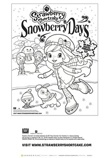 Strawberry Shortcake Snowberry Days Coloring Sheet