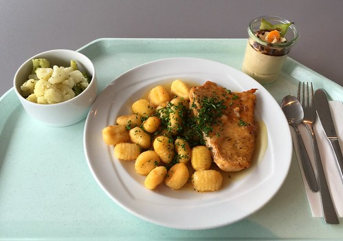 Turkey steak with honey pepper sauce / Putensteak in Honig-Pfeffersauce