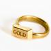 Gold Bar Ring by vormplus