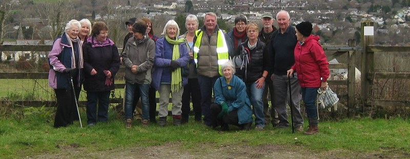 Walking Group near Lostwithiel January 2015