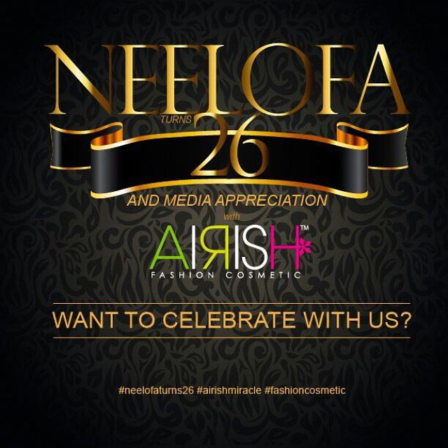 Happy weekend lovely darlings of Airish! We're celebrating #neelofaturns26 with Media this 12th February (Thursday) at an Exclusive Hotel in Kuala Lumpur. Want to know how you can join us? Read and participate #neelofaturns26 contest below !  1. Post a cr