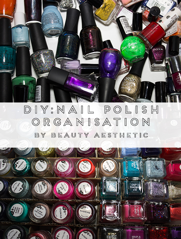 DIY Nail Polish Organisation