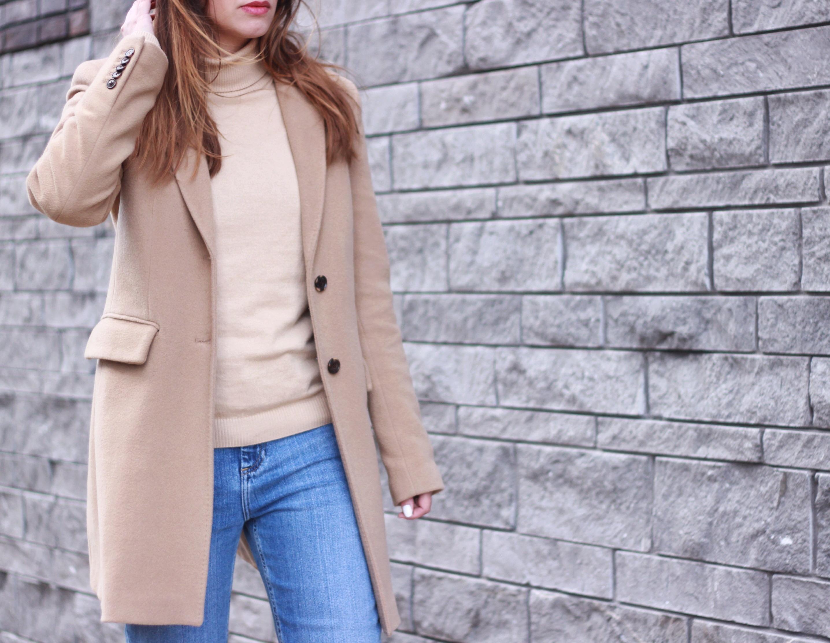 Trend, double camel, denim, street style, inspiration, fashion blogger