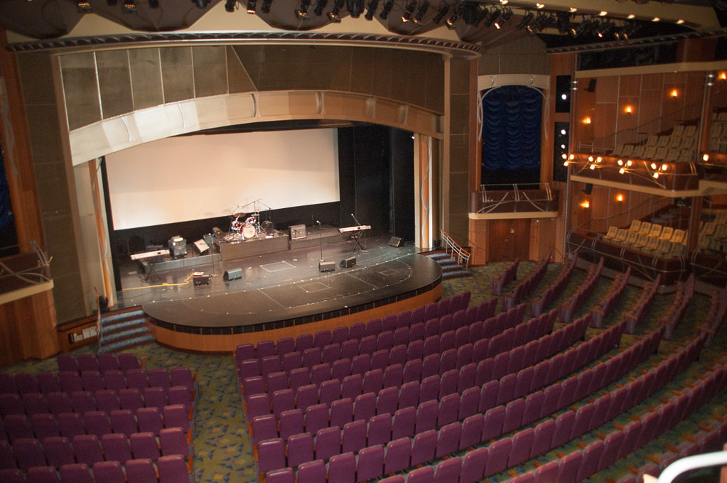 Main auditorium and theater on the Adventure of the Seas