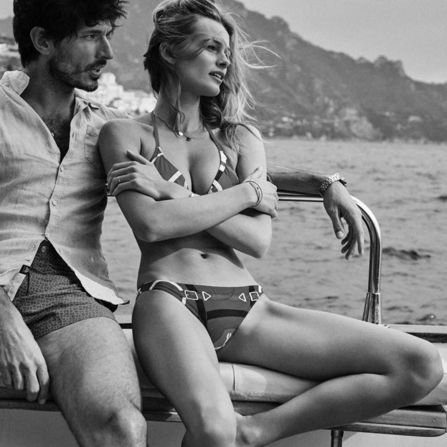 Andrés Velencosoa and Edita Vilkeviciute photographed by Benny Horne for Vogue Spain June 2016