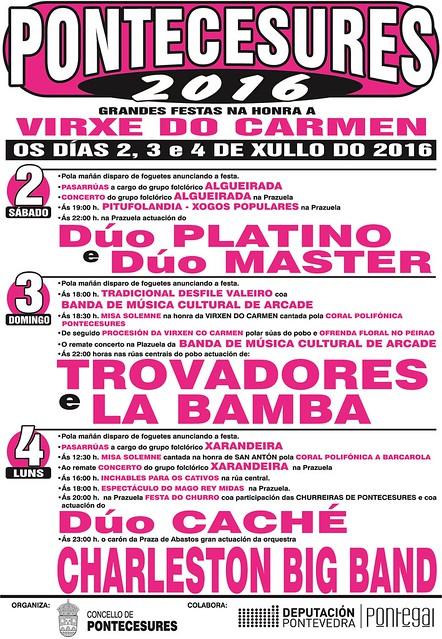 Pontecesures 2016 - Festas do Carme - cartel