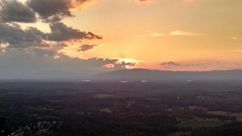 sunset mountain clouds salem burkemont