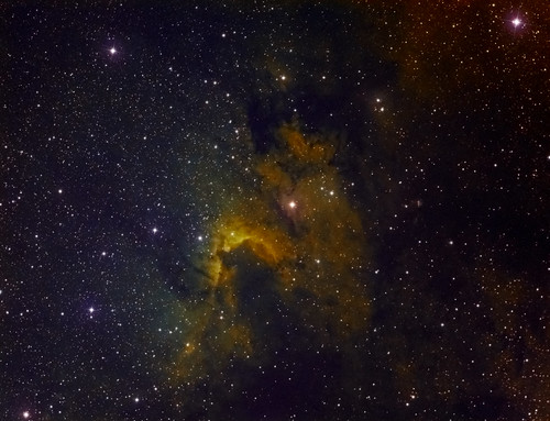 The Cave Nebula, Sh2-155 or Caldwell 9 - Hubble Palette by Mick Hyde