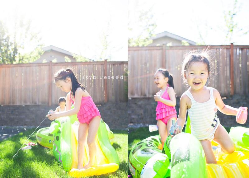 Sisters on slide