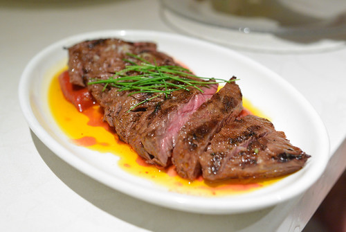 Carne Asada Con Piquillos 'julián De Lodosa' grilled skirt steak with piquillo pepper confit