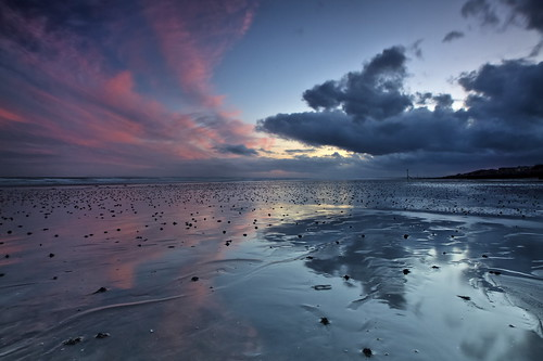 sunset sea water clouds reflections sussex sand davidjacobs eastwittering jakeof