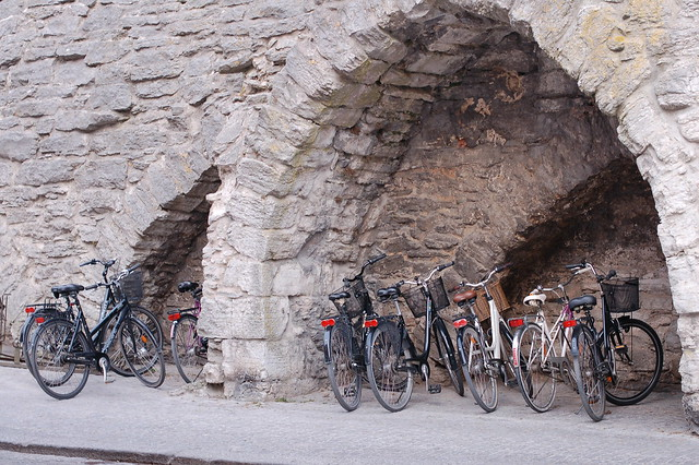 Bike parking at the ringwall in Visby photo by iHanna