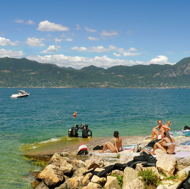 Lake Garda has always been appealing to divers and sunbathers