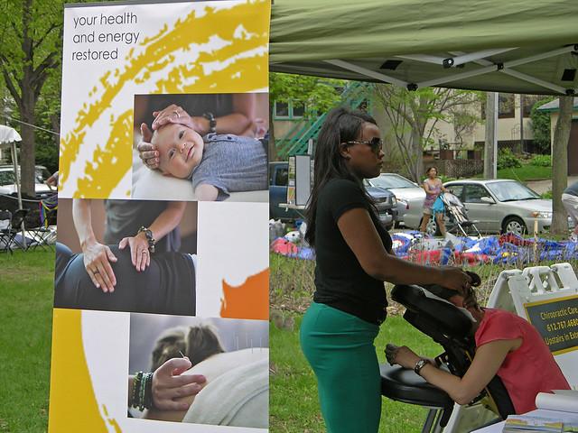 2013 Linden Hills Festival massage booth