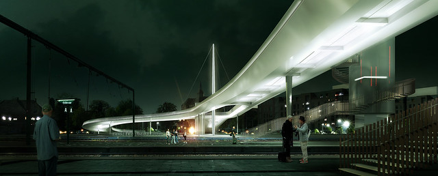 Bicycle bridge in Odense