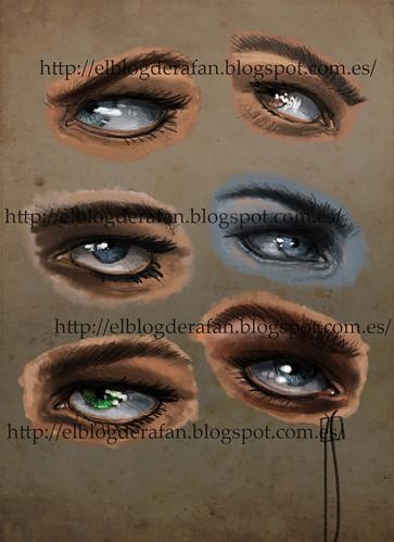 6 ojos masculinos color
