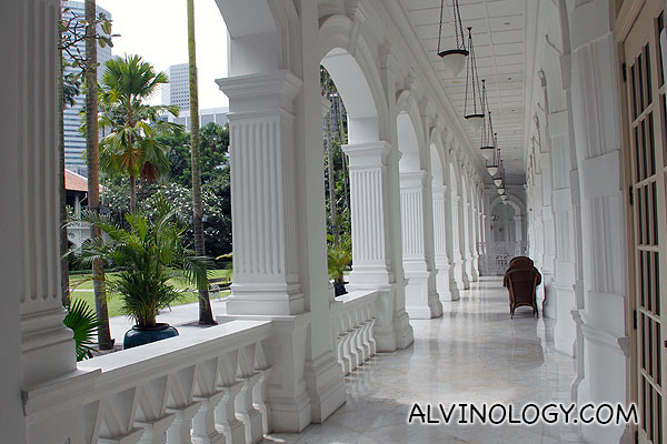 I like walking down these rows after rows of white columns
