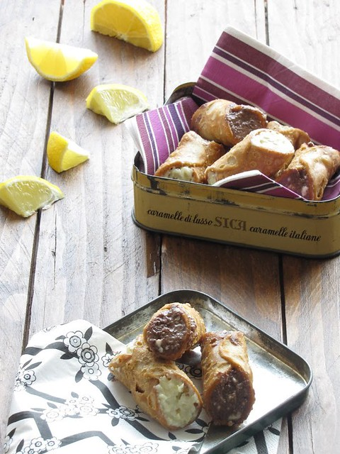Cannoli Salati con Variazioni di Crema di Stracchino