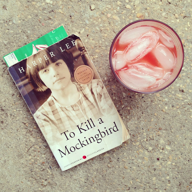 To Kill a Mockingbird + Blood Orange Soda (back porch)