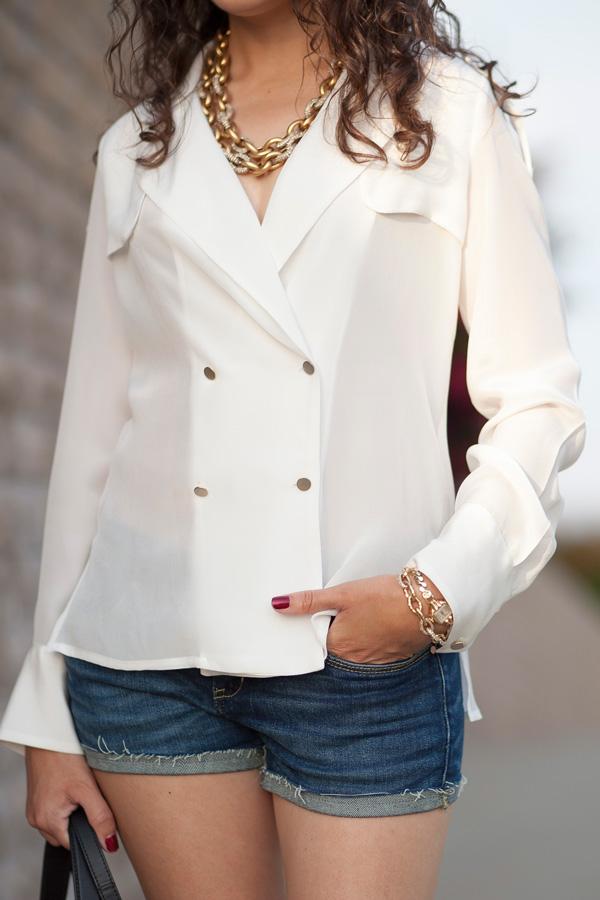 Zara Crossover Tuxedo Style Shirt
