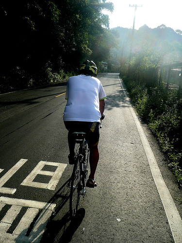 Cyclist on the way to Pinglin (坪林)