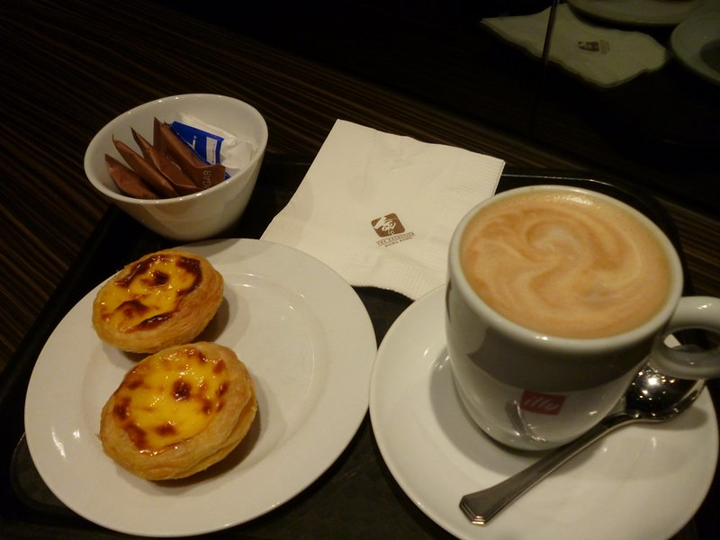Awesome egg tarts with good Italian coffee