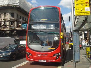 London Sovereign Transdev VH8 on Route 13, Regent Street