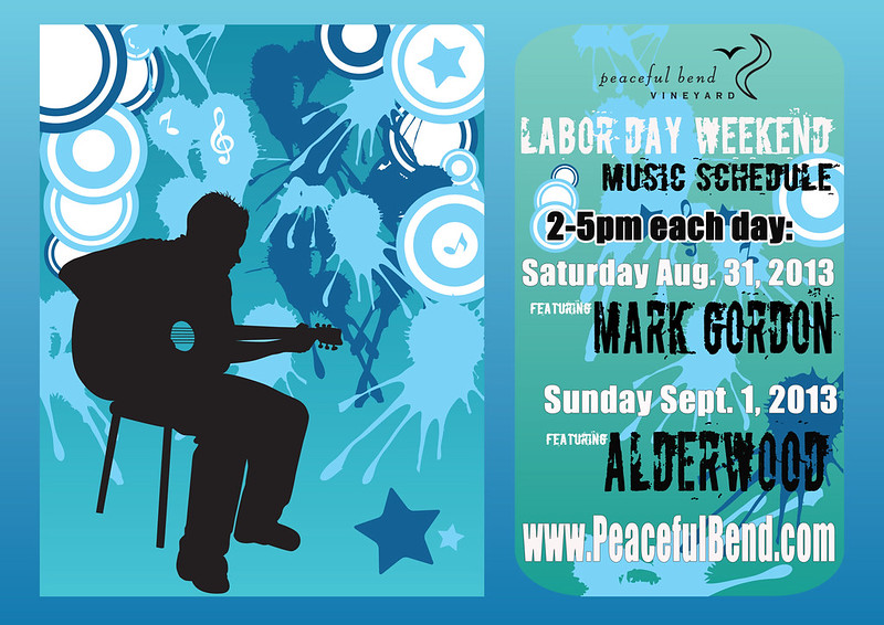2013 Labor Day Weekend Music Schedule