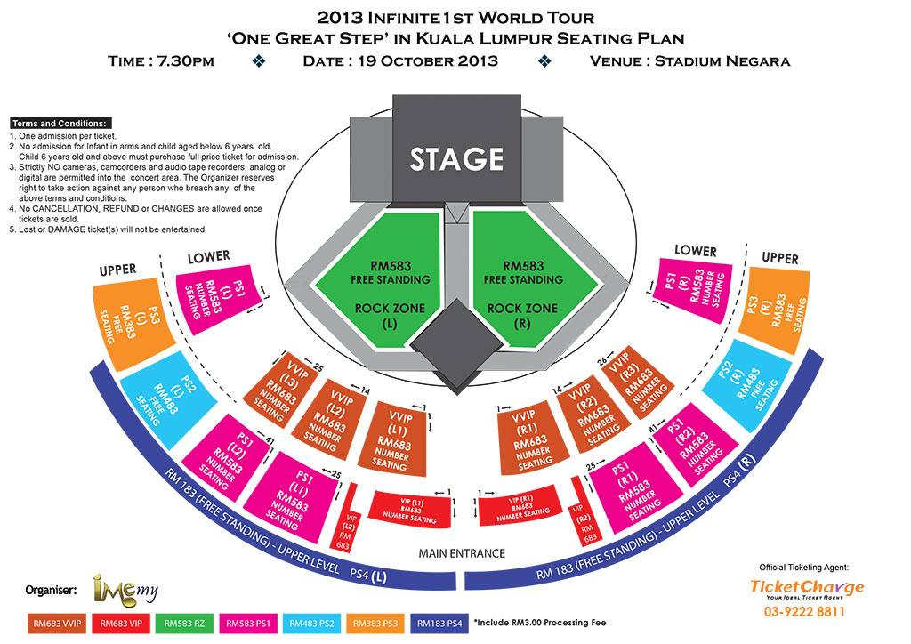 Konsert 2013 Infinite 1st World Tour One Great Step In Kuala Lumpur