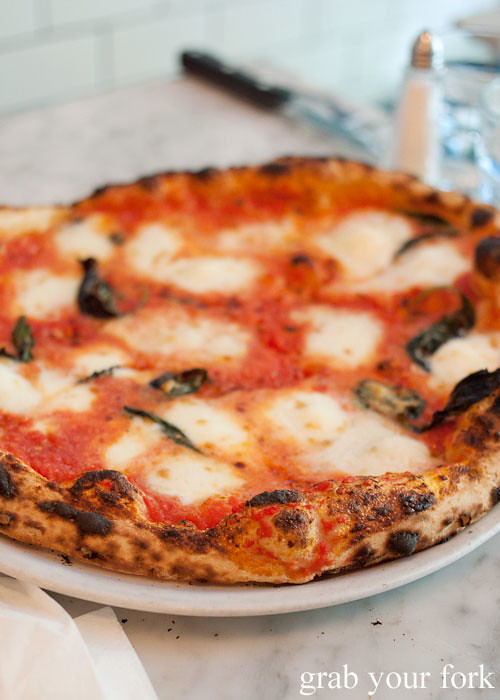 margherita pizza at motorino pizza east village italian new york pizza ny usa