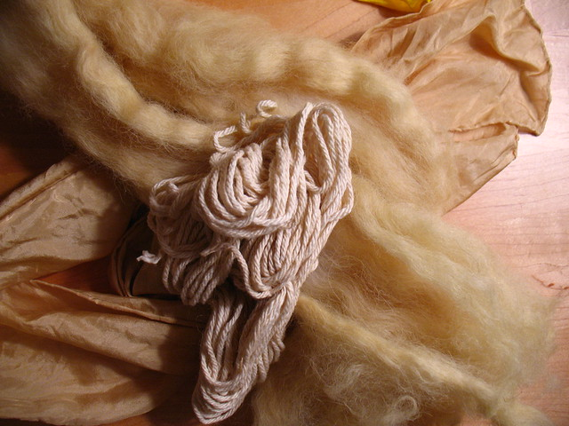 COFFEE - Natural dyes on silk, cotton and wool