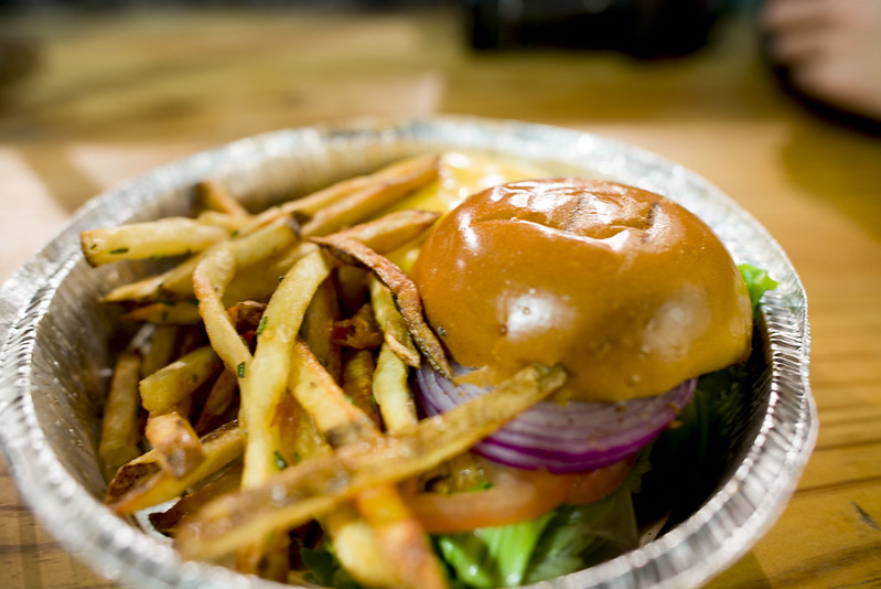 Friedman's Lunch - burger at Chelsea Market