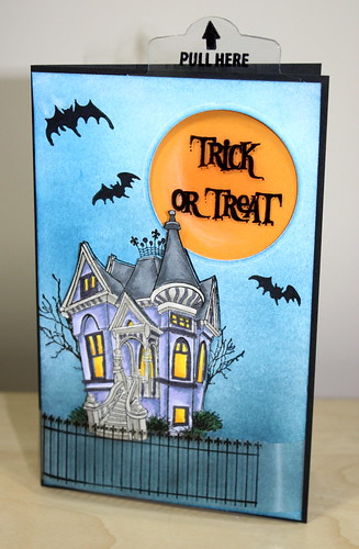 Pull tab halloween card