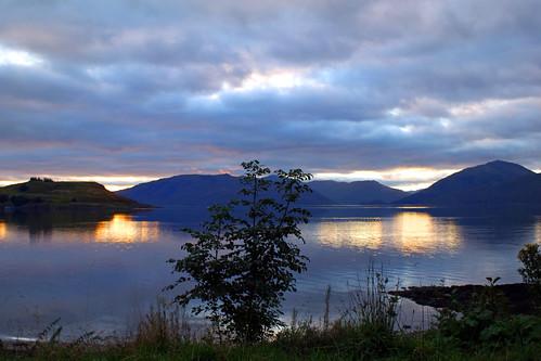 sunset scotland sundown unitedkingdom highland loch appin lochlinnhe argyllandbute a828
