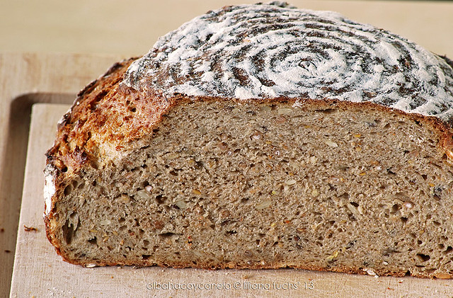 Multigrain sourdough bread