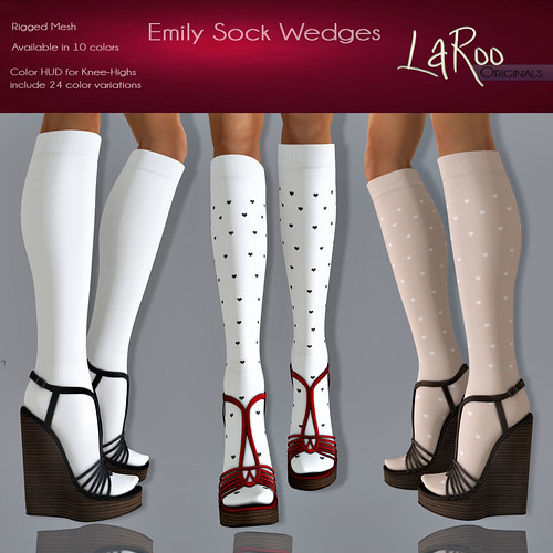 LaRoo - Emily Sock Wedges