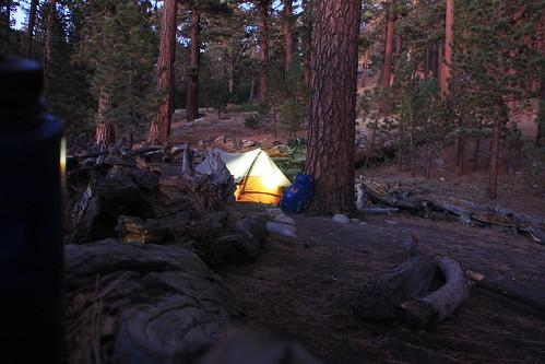 Scott Beds Down, Sheep Camp