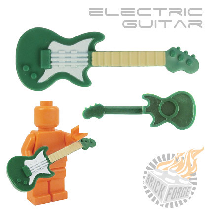 Electric Guitar - Green (white pickguard & tan neck)