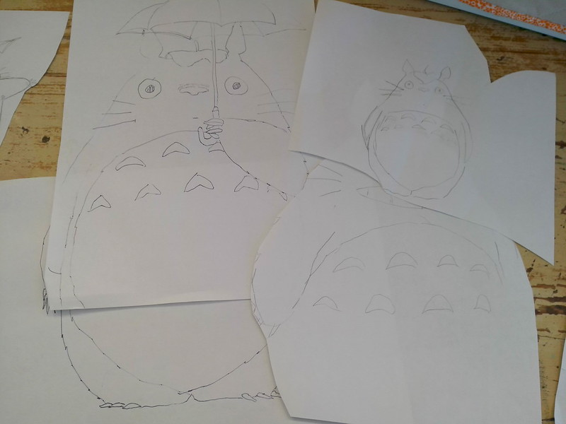 Totoro sketches together