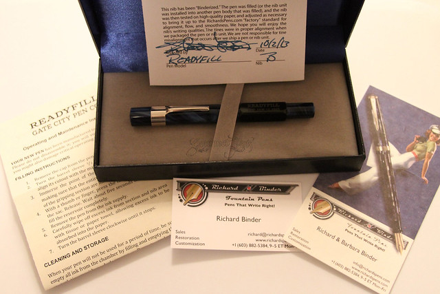 Gate City Pen - READYFILL Claire de Lune Fountain Pen - Broad @RichardsPens Packaging