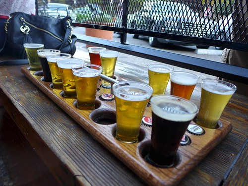 Russian River Brewing sample tasting