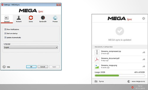 Mega для Windows