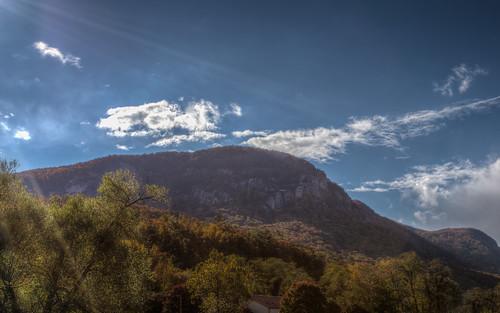 fall landscape unitedstates northcarolina foliage flare hdr highdynamicrange lakelure