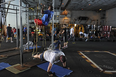 sport venue(0.0), sports(0.0), performance art(0.0), room(1.0), crossfit(1.0), physical fitness(1.0),