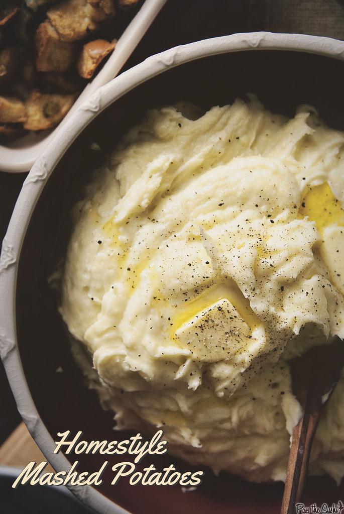 Homestyle Mashed Potatoes {Pass the Sushi}