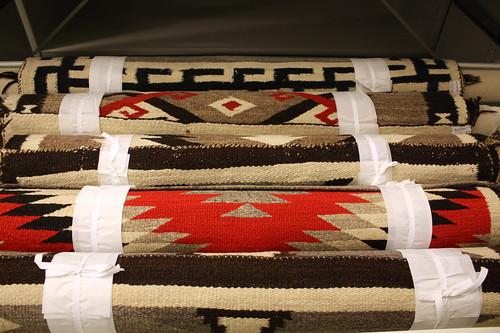 Mobergs samling av textilier från indiankulturer.