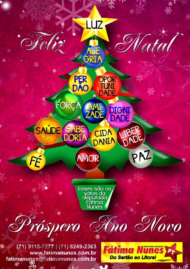 Cartão de Natal Fátima Nunes