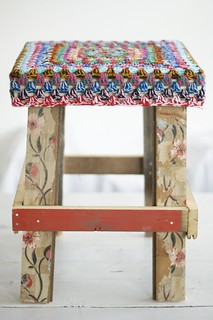 wood & wool stool ann